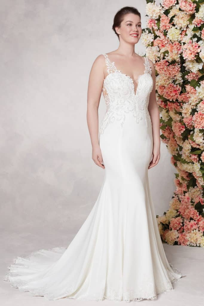 Plus Size Crepe Wedding Gown