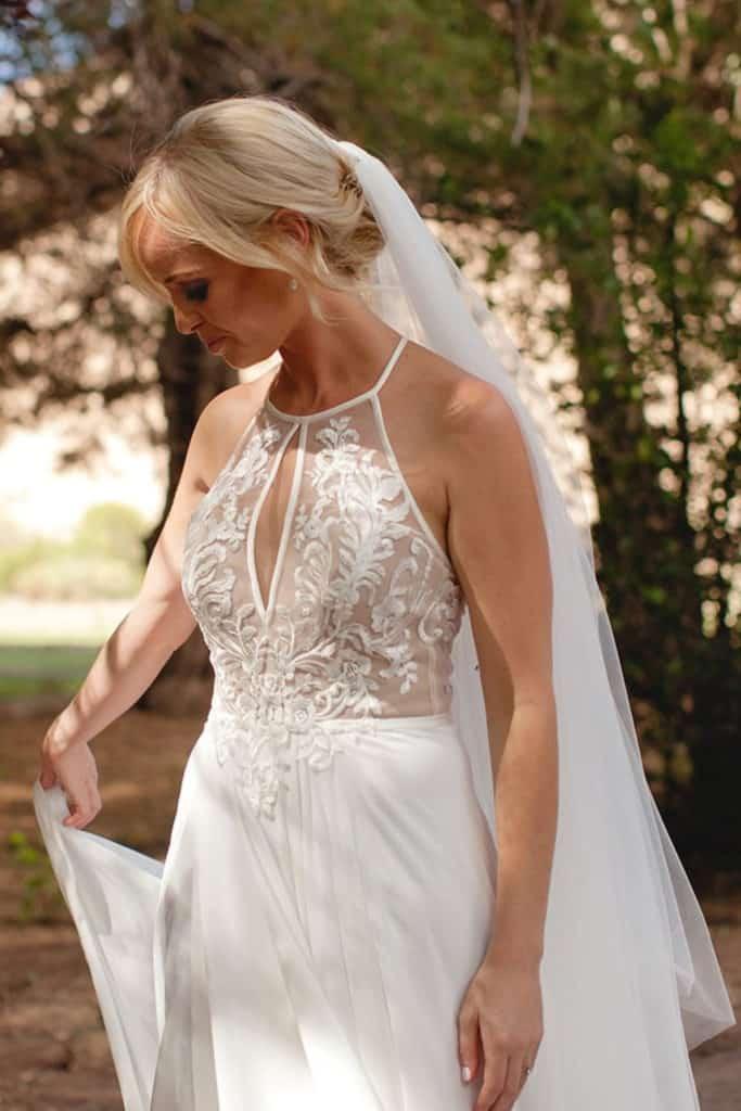 bride in the loca payton wedding dress